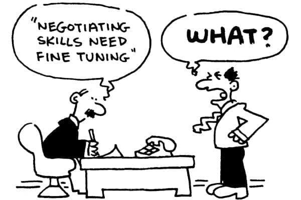 Picture of negotiating cartoon