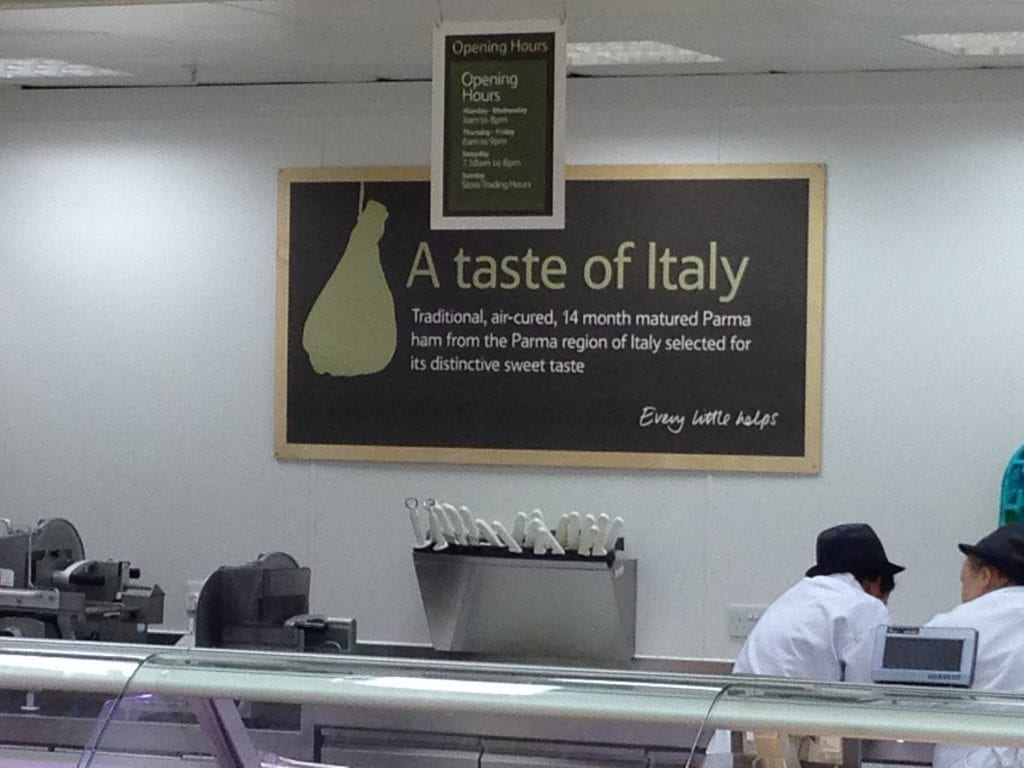 Picture of tesco italy - shopper research