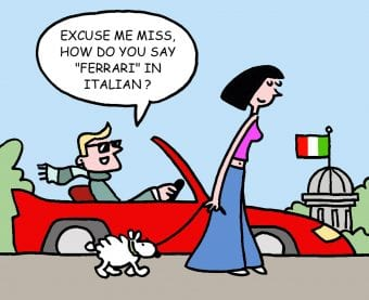 Customer vs consumer'excuse me miss how do you say Ferrari in Italian?'
