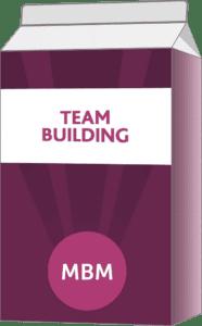 Purple carton with Team Building on label