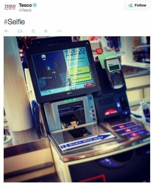 Tesco self serve checkout