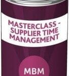 MBM can with the label'Masterclass - Supplier Time Management'