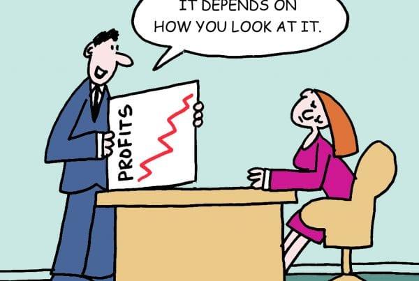 Picture of profits cartoon