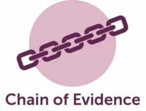 Purple chain on pink sticker