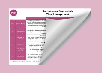 Competency Framework - Time Management
