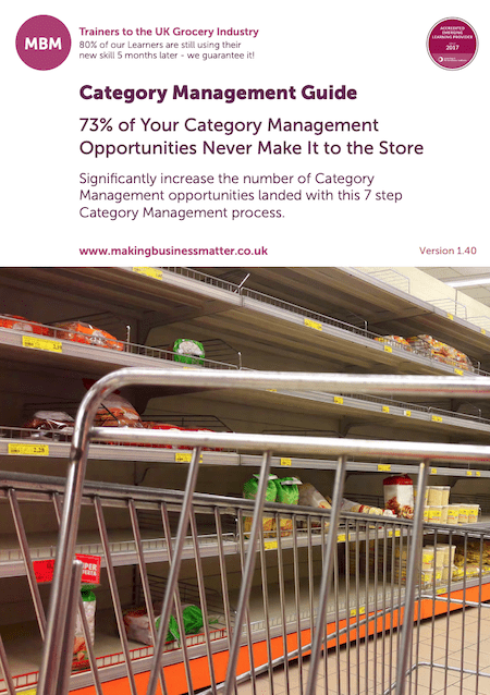 Front page of MBM's Category Management Guide