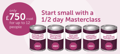 Start small with a 1/2 day masterclass