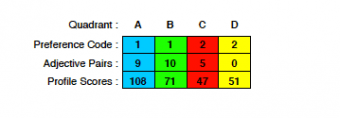 Profile Numbers from HBDI results