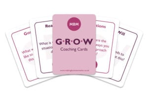 5 MBM GROW Coaching cards fanned out