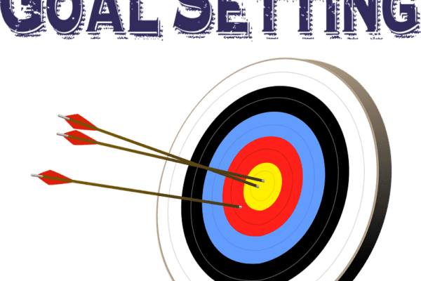 Dart board with Goal Setting written above