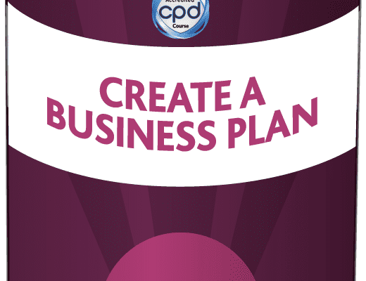 Purple tin with Create a Business Plan on label