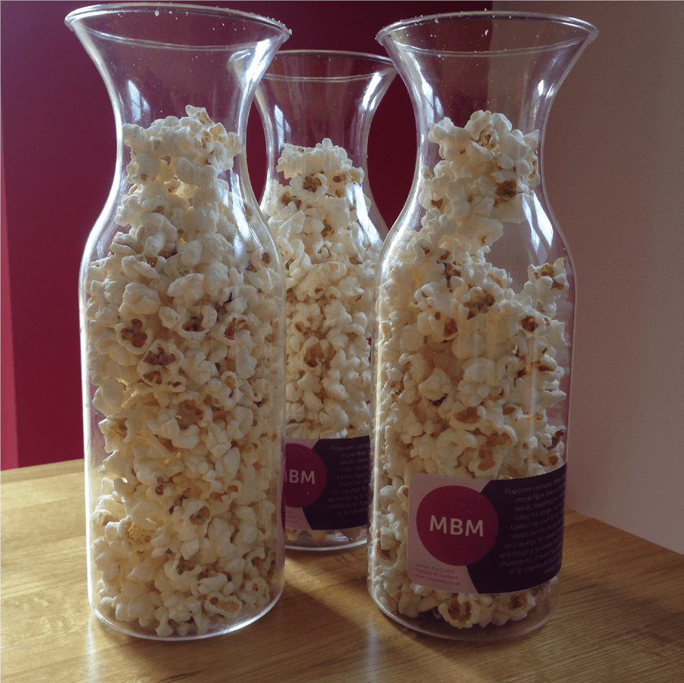 Jars of popcorn - MBM Training Provider