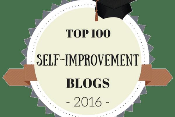 Cartoon badge for self-improvement blogs