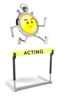 Stopwatch & Hurdle - Acting