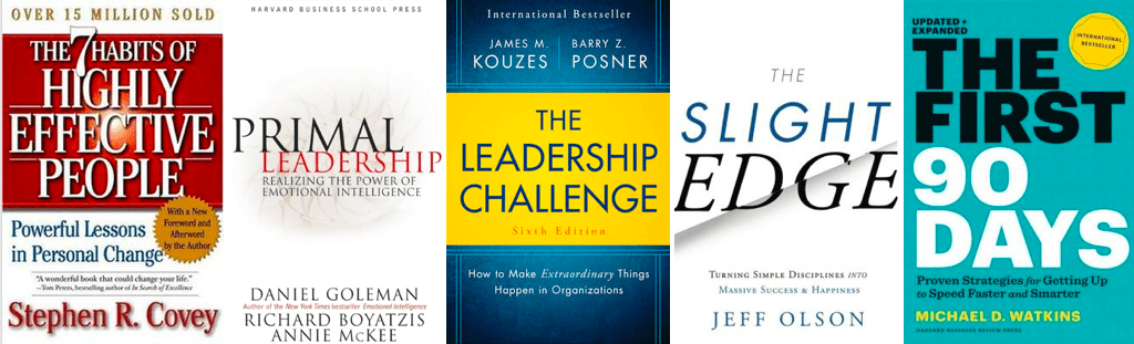 Leadership Skills: Recommended books cover pictures