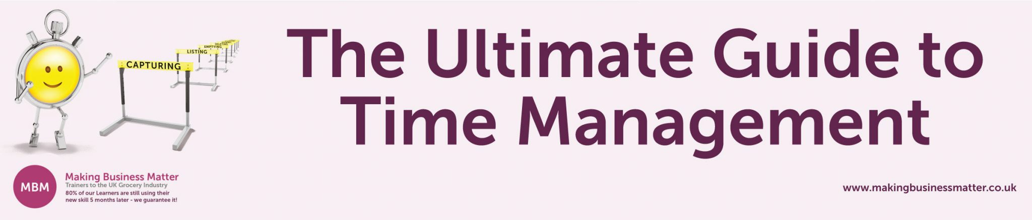 Banner for The Ultimate Guide to Time Management