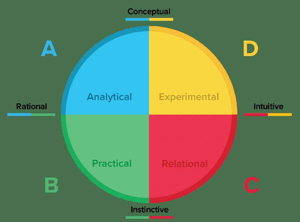 Team building skills, HBDI quadrants