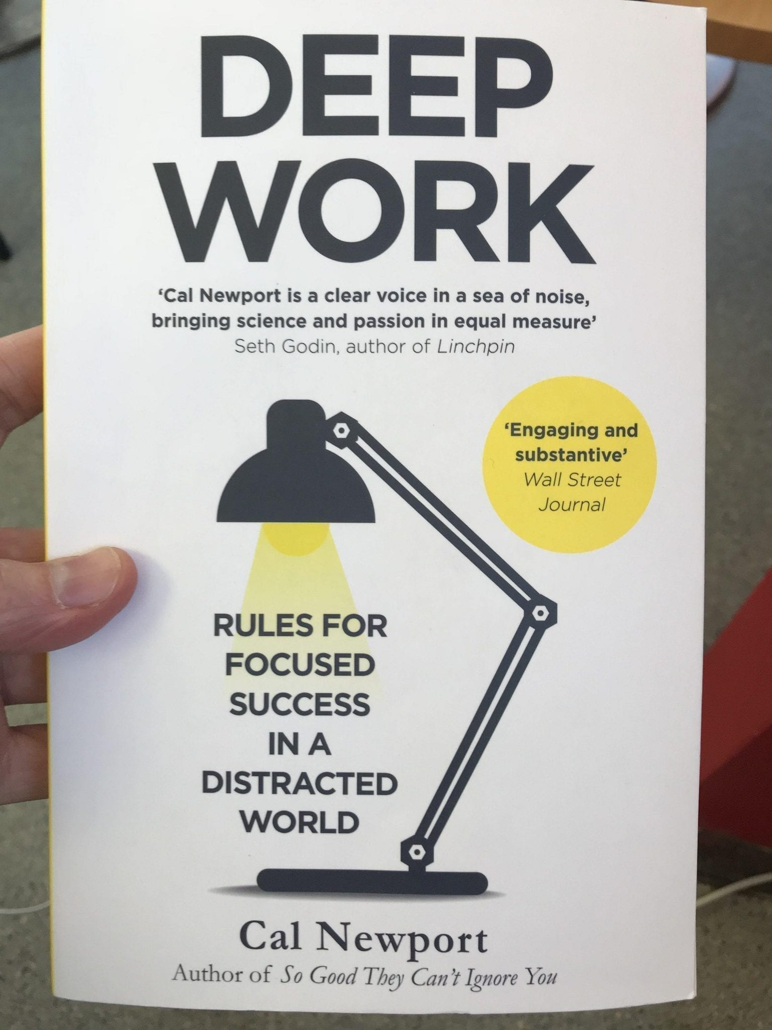 Book Cover for Deep Work by Cal Newport