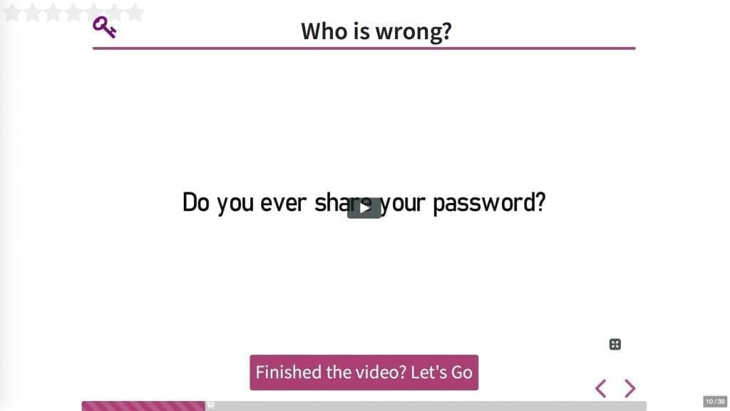 Example of a video question