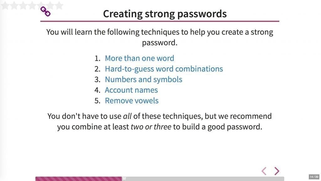 Techniques for creating strong passwords