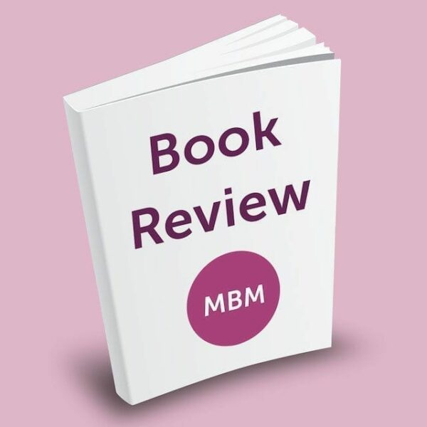 Plain white book with the title 'Book Review' and the MBM logo.
