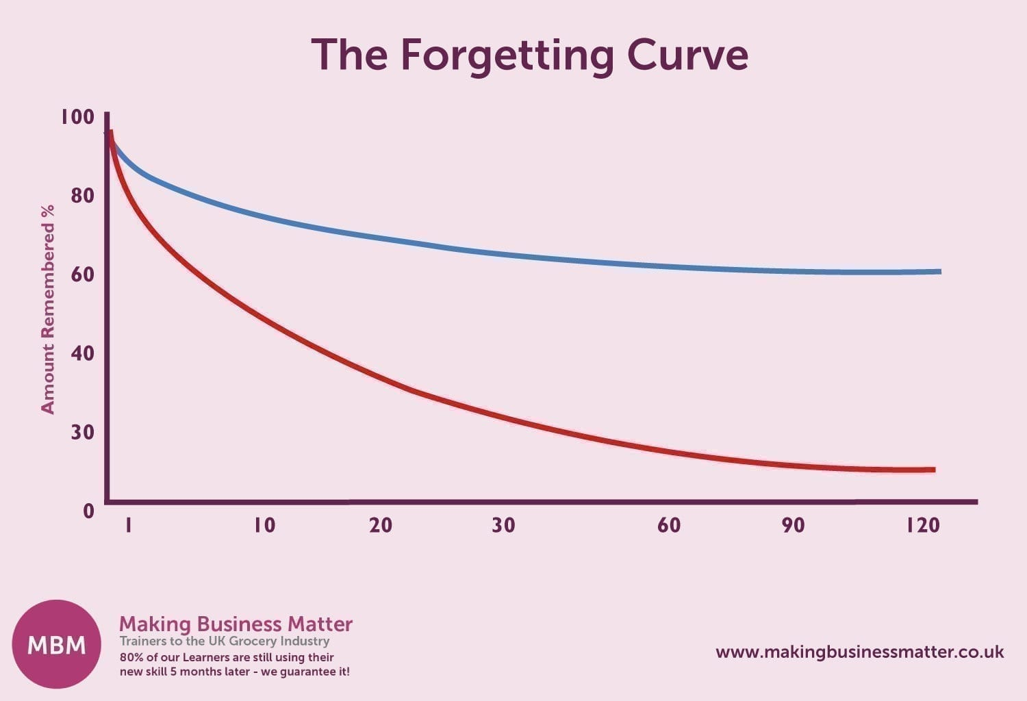 The Forgetting Curve Chart
