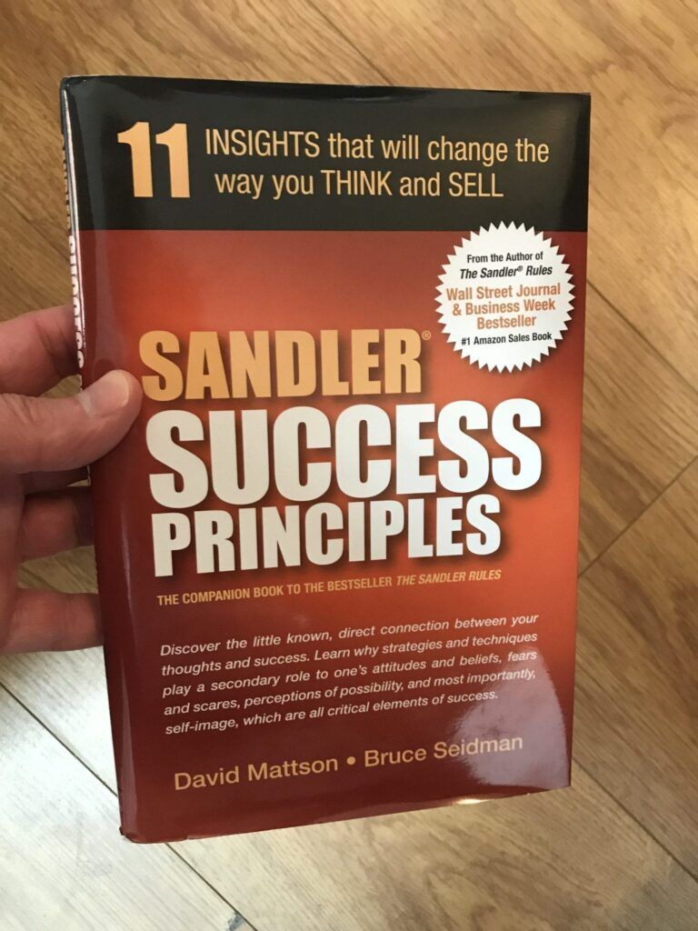 Sandler Success Principles book cover image
