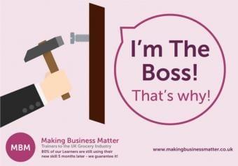 Hammering a screw into a board. Boss VS Leader