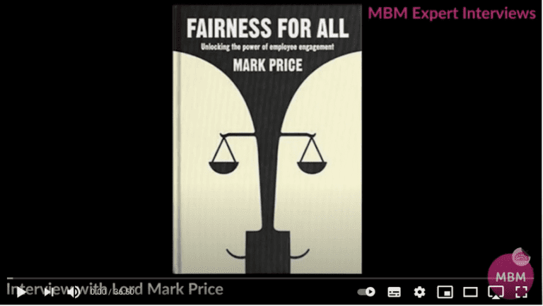 Screenshot of YouTube video on Fairness for all book