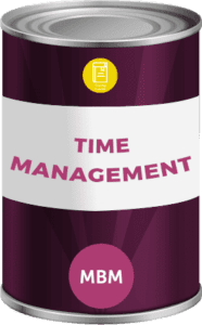 Tin can with soft skills training time management label
