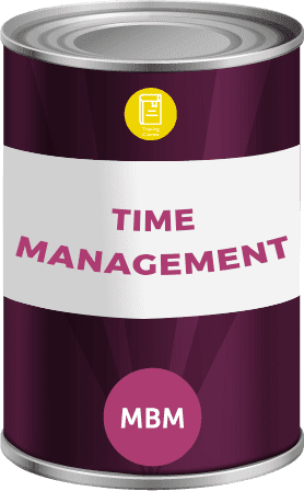tin can with time management label