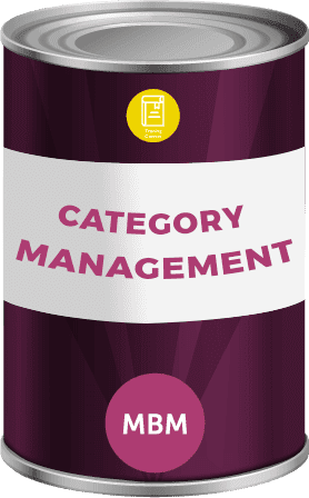 Tin can with category management label