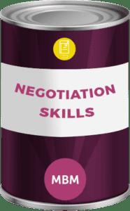 Tin can with soft skills training Negotiation Skills label