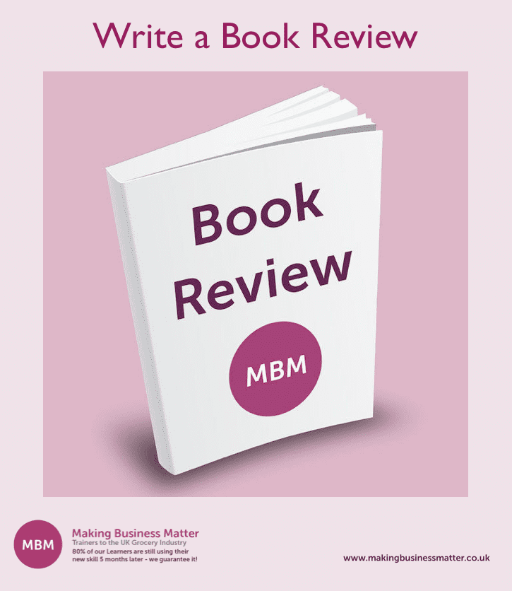 Front cover of a Book Review MBM book with Write For Us at the top