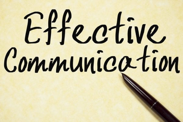 Yellow background with Effective Communication written on it