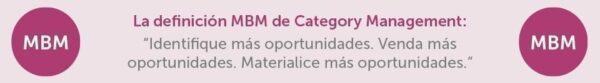 La definicion MBM de Category Management