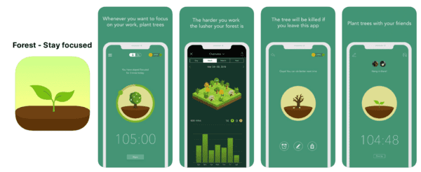 Forest revision app to stay focused