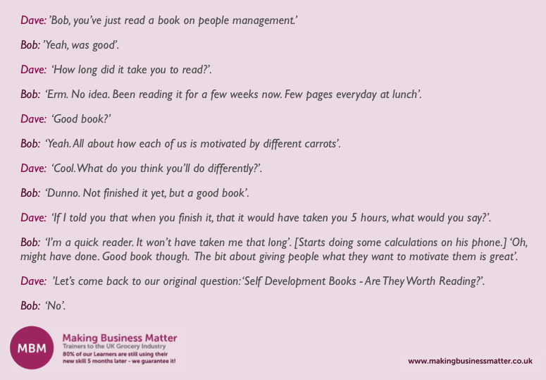 self-development books, dialogue