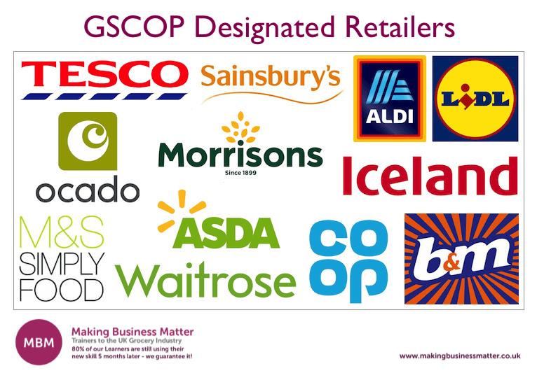 GSCOP Designated Retailers
