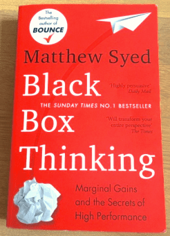 Black box thinking, book cover
