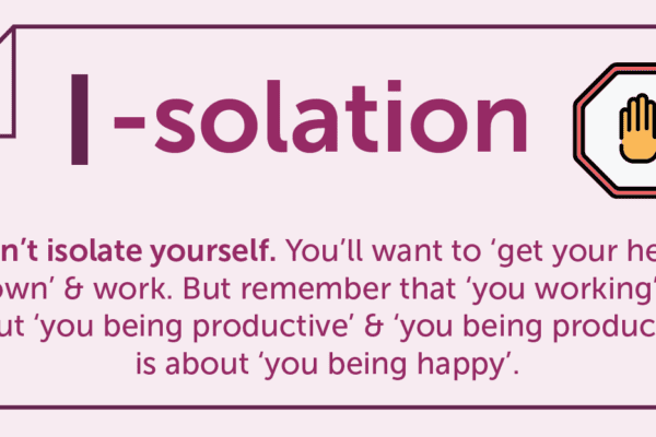 I-solation infographic, work from home isolation