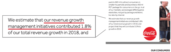 Coca cola revenue growth quote