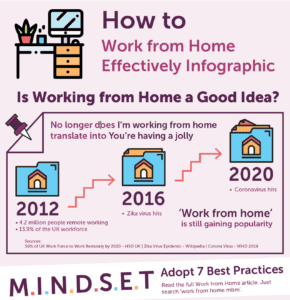 How to Work from Home Effective Infographic