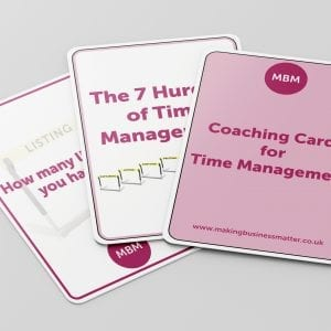 Time Management Coaching Cards