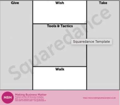 Template titled Squaredance with 3 sections greyed out
