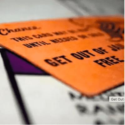 Orange get out of jail free card