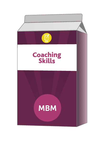 Purple carton with Coaching Skills on the label