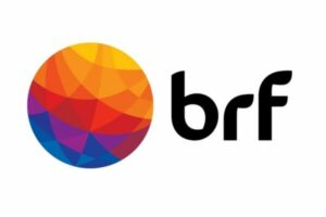 Multicoloured circle with letters BRF next to it
