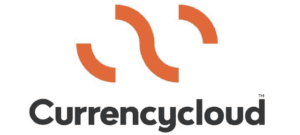 Words CurrencyCloud written in black with orange lines