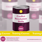 MBM Banner for Conflict Resolution Skills purple tin